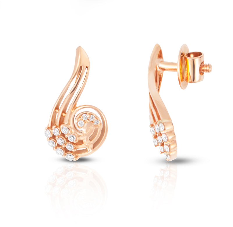 The Magnetic 18k Rose Gold Diamond Studs
