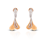 The Elite 18k Rose Gold Italian Diamond Earrings