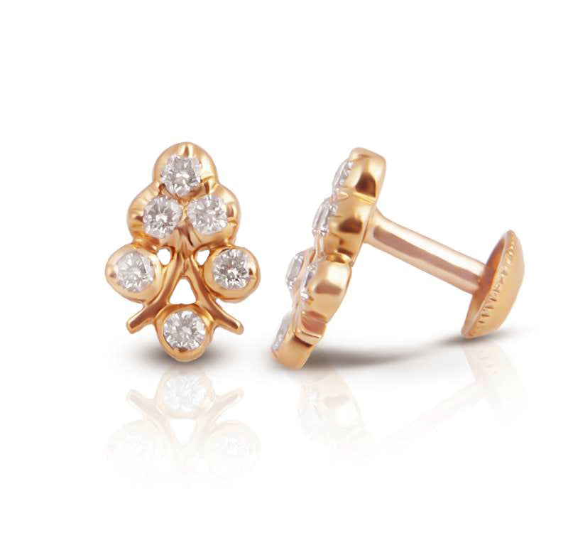 The Aadhila Closed Setting 22k Diamond Stud