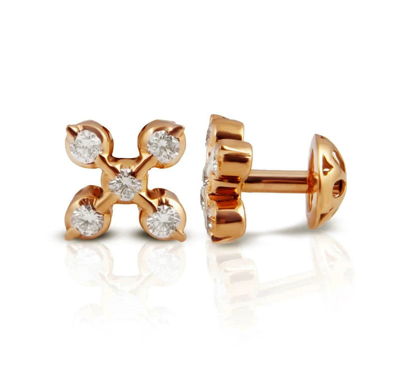 The Akshana Closed Setting 22k Diamond Stud