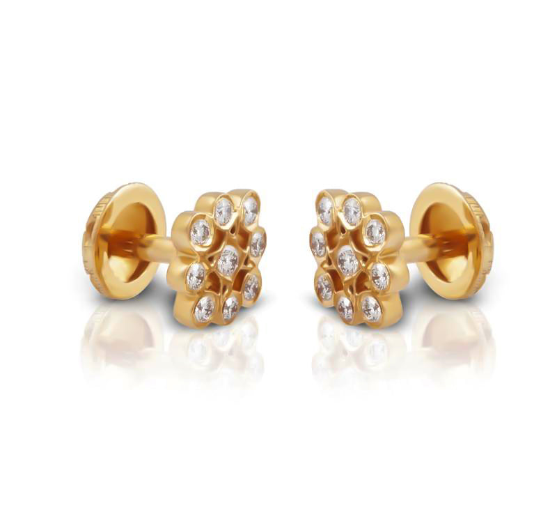 The Akhalya Closed Setting 22k Diamond Stud
