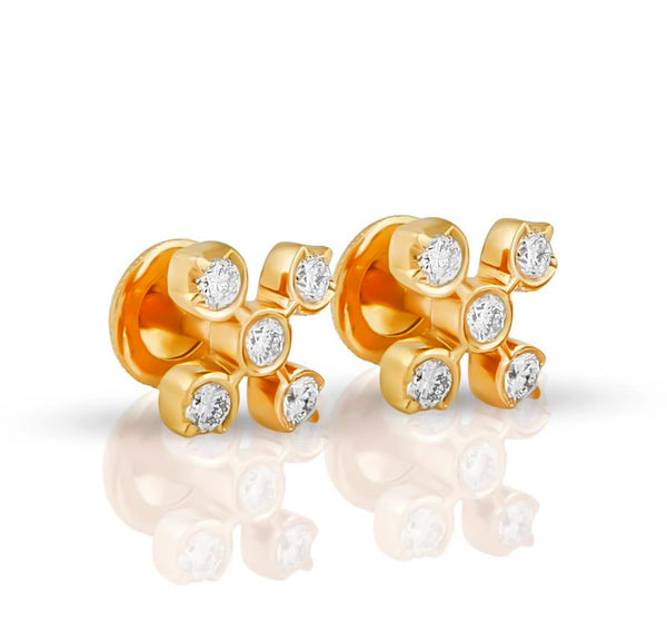 The Suyashi Closed Setting Diamond Studs