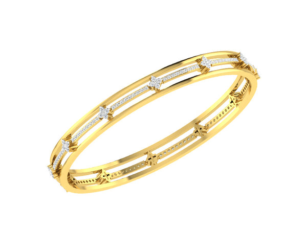 THREE LINE CLUSTER BANGLE