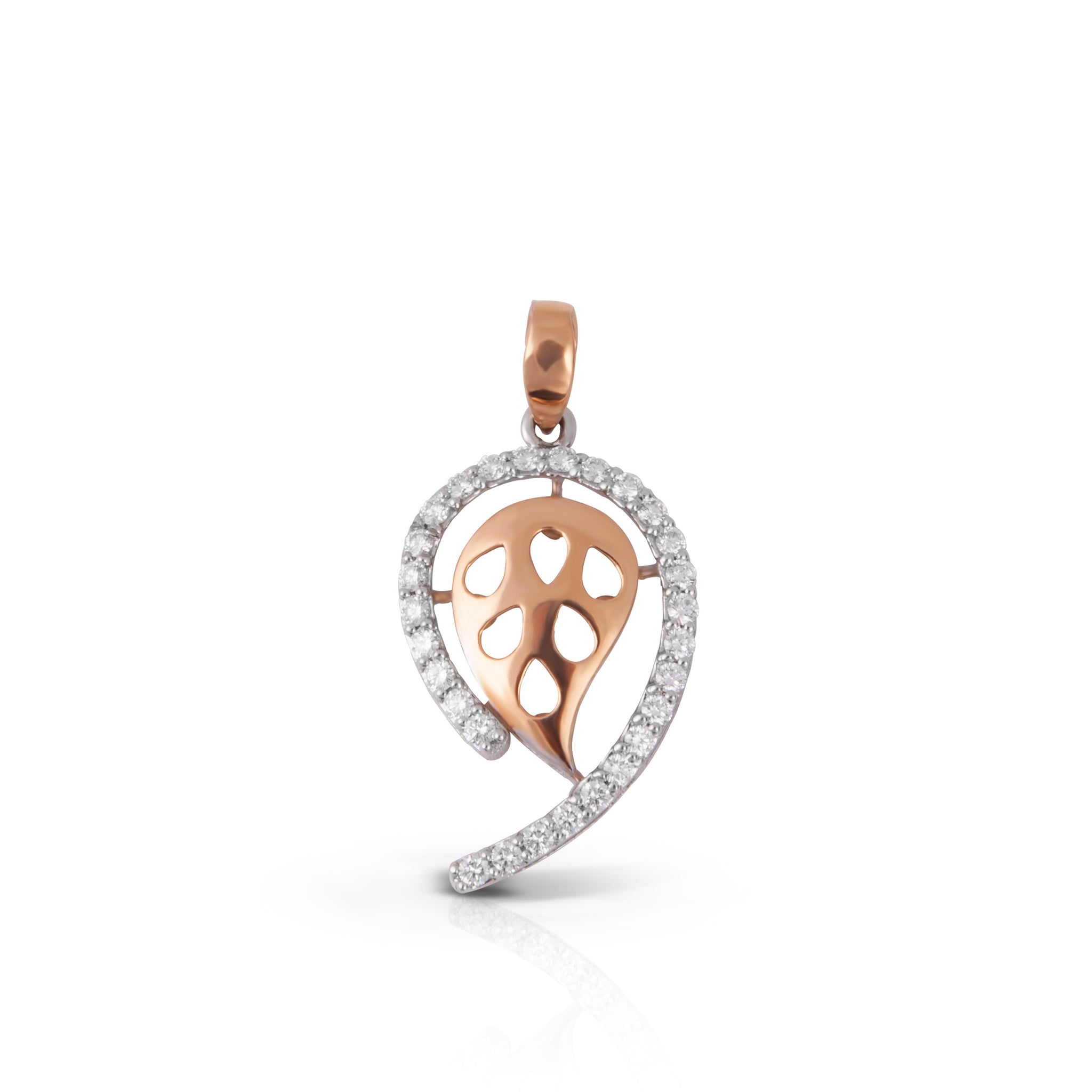 The Dew Drop Rose Gold Diamond Pendant