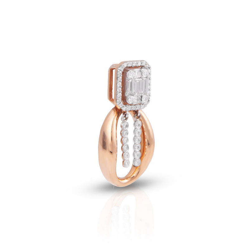 Urbane 18K Rose Gold Diamond Pendant