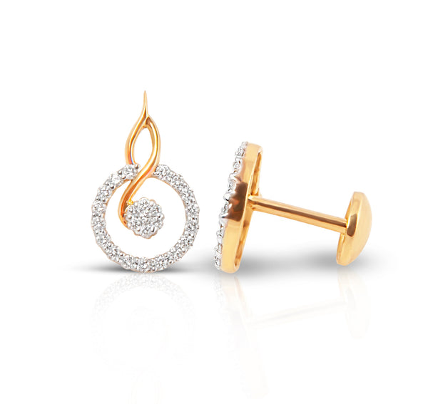 Round Galaxy 18k Diamond Studs