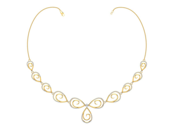 ALLURING SPIRAL DROP NECKLACE