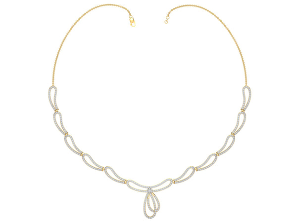 ELEGANT INTERLINKED LOOP NECKLACE