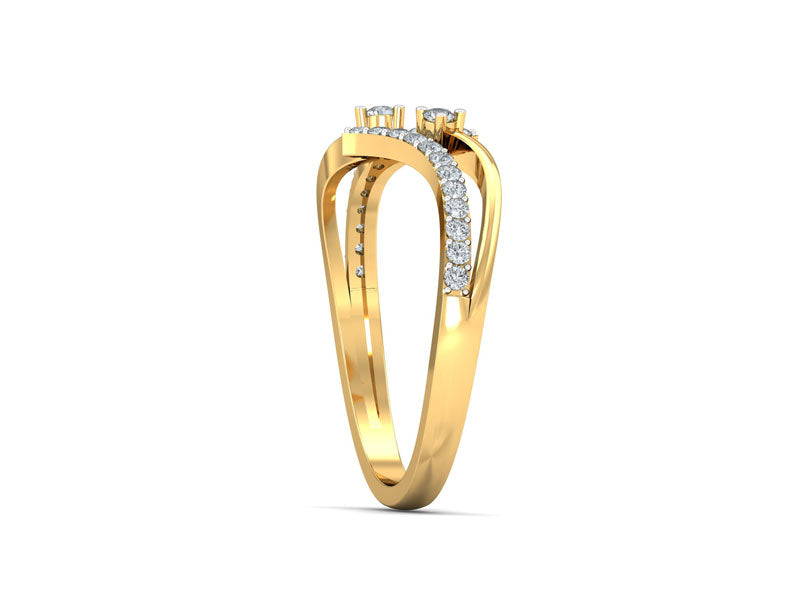 Bright Conjoining Lines Ring