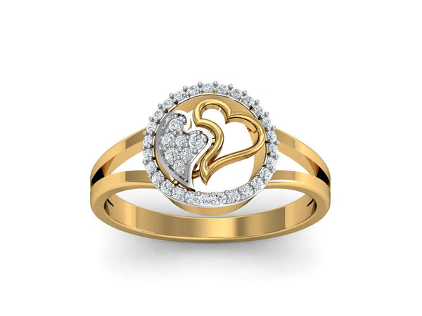 Romantic 'Inseparable Hearts' Ring