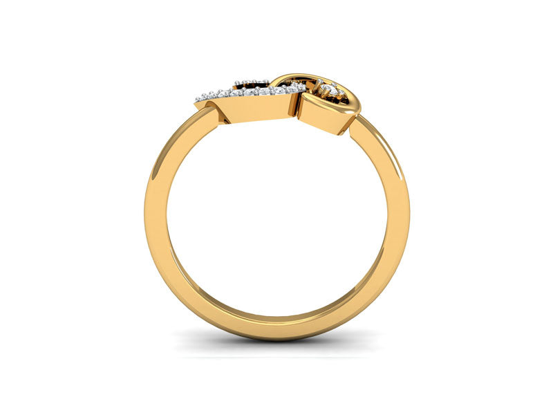 Trendy Entwining Comma Ring