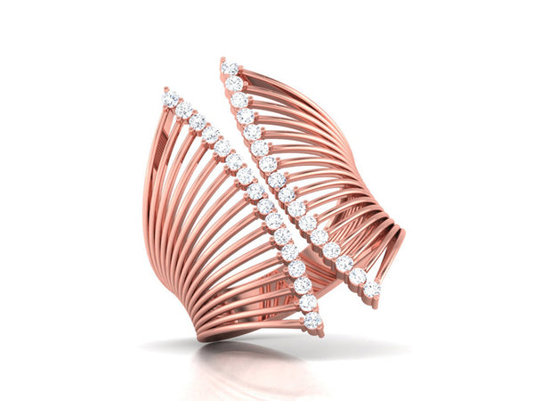 Stunning Intersecting Ring