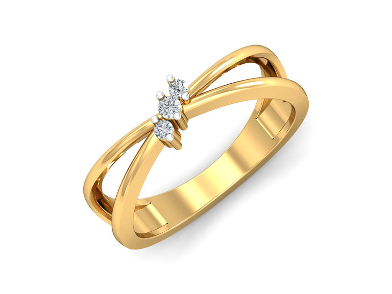 Chic Three Diamond Ring