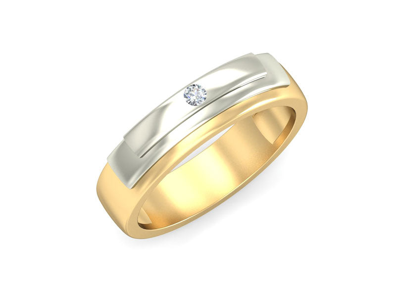 CLASSIC SINGLE DIAMOND BAND RING