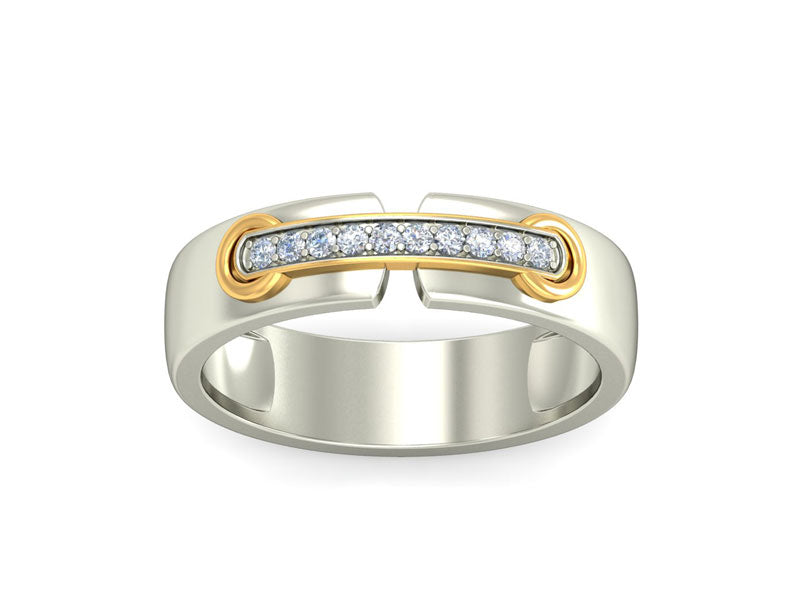 URBANE WHITE GOLD BAND RING