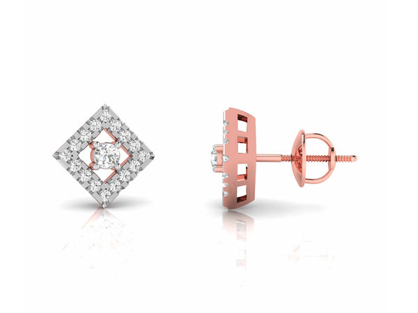 Scintillating Square Shaped Stud