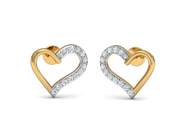 Twin Heart Shaped Studs