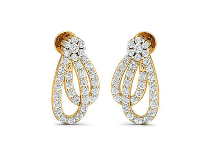 Elegant Interlinked Loop Earrings