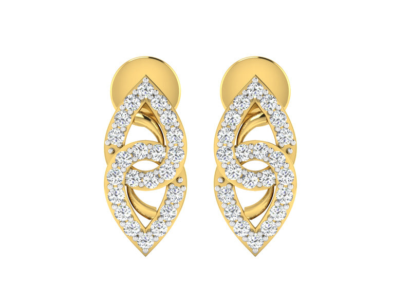 Converging Twin Pear Shaped Studs