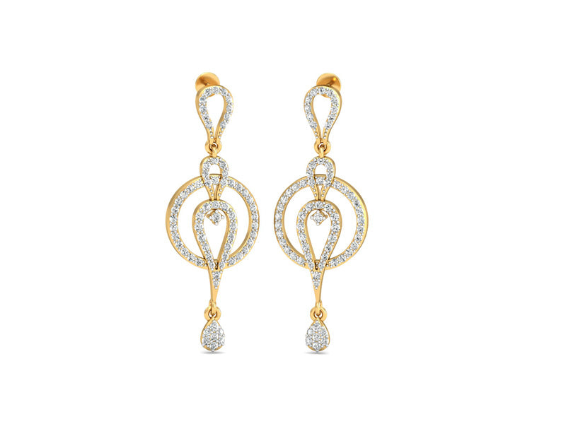 Classy Circular Drop Earrings