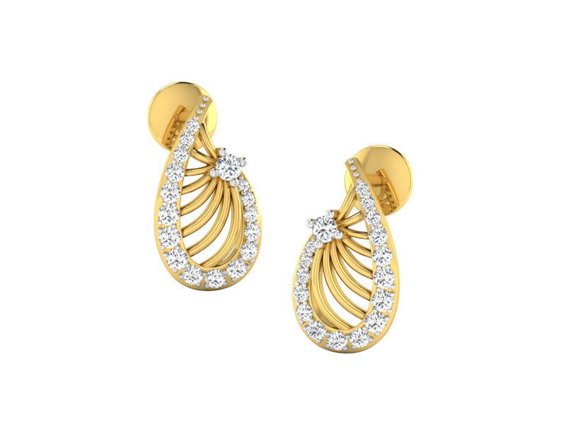 Beautiful Pear Shaped Studs