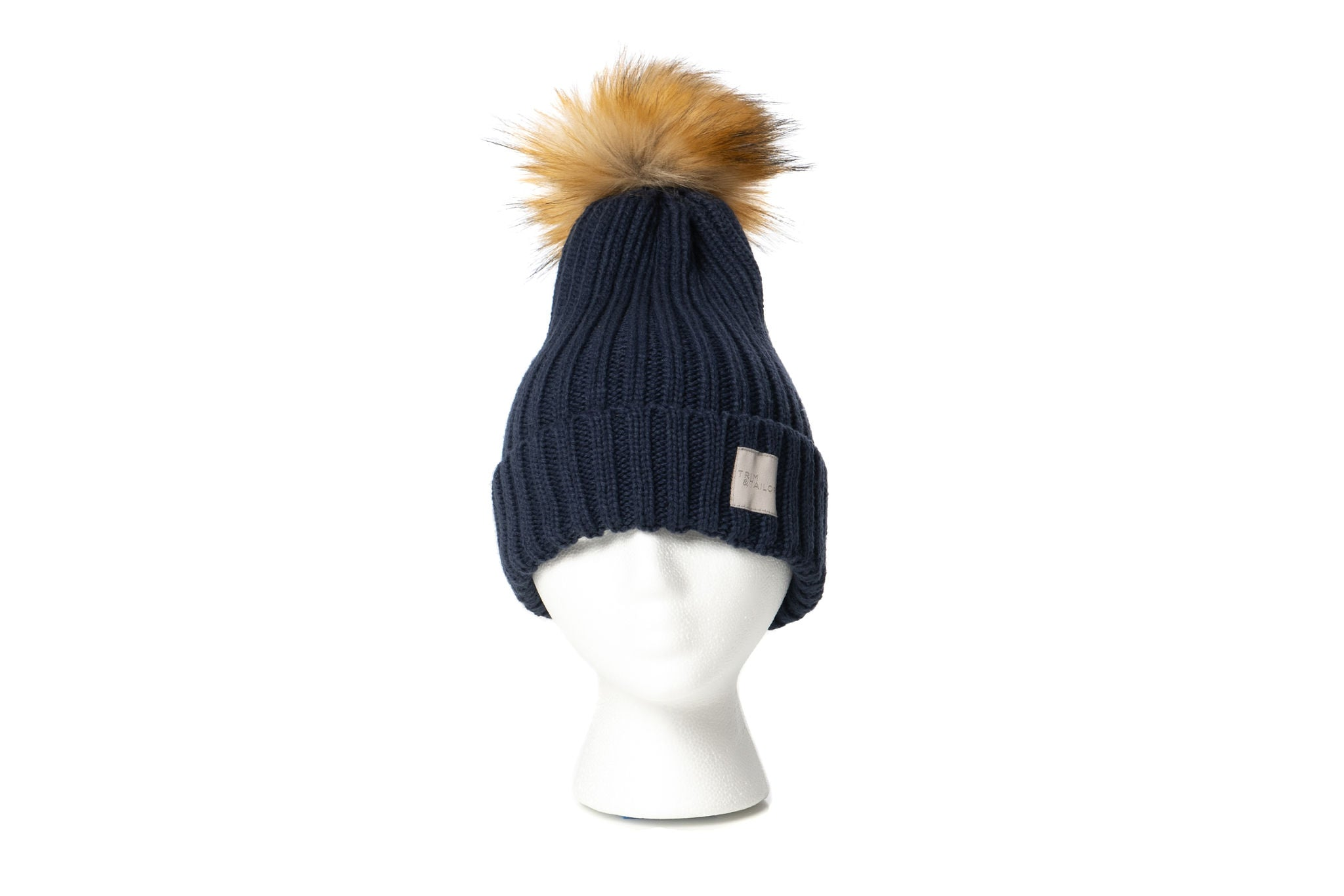 Chicago Pom Beanie (Navy)