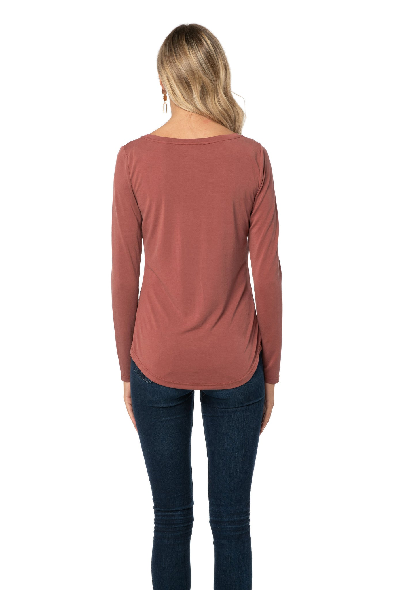 Rose Fitted Long Sleeve Shirt