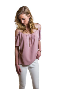 Cora Cold Shoulder - Pink Lavender