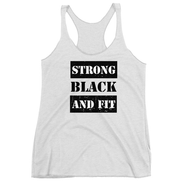 Strong Black Fit Tanks