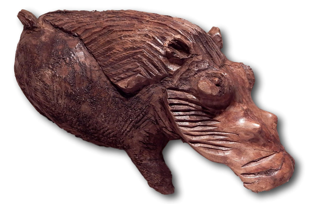 Warthog handcrafted from Mukwa wood