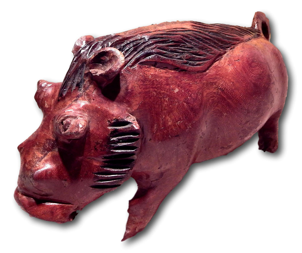 Wild boar handcrafted from Mukwa wood