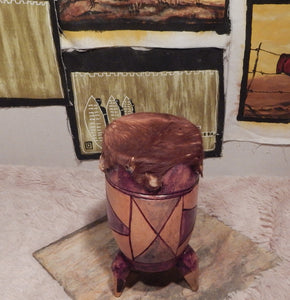 Traditional African  drum handcrafted from Seringa wood