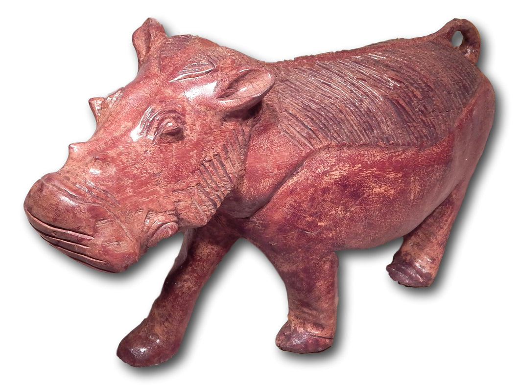 Wild boar hand made from Mukwa wood