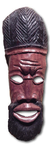 Mask art decoration handcrafted from Mahogany wood