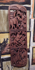 Wall decoration handcrafted from Mukwa wood