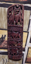 Wall art handcrafted from Mukwa wood