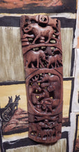 Wall art hand carved from Mukwa wood