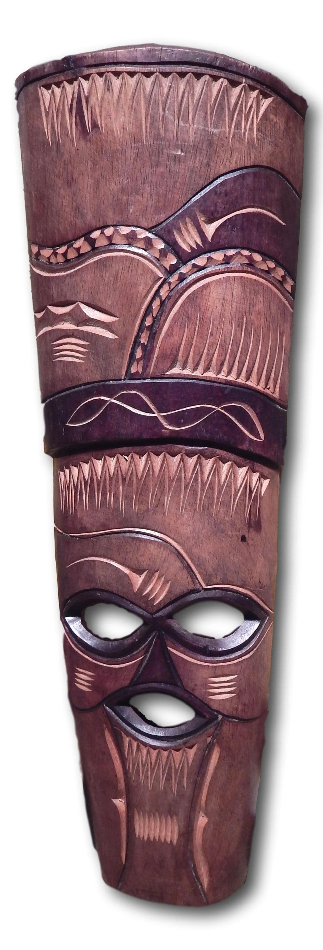 Mask art decoration handcrafted from Seringa wood