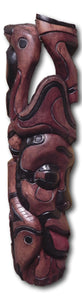 Mask art decoration from Seringa wood