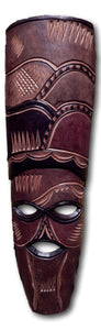 Mask art decoration from Mukwa wood