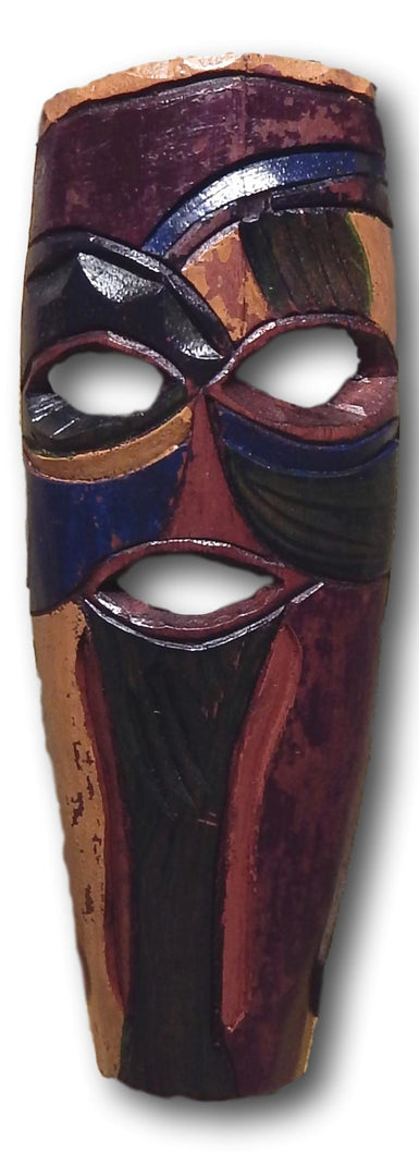 Mask art decoration handcrafted from Teak wood