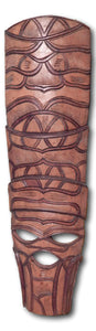 Mask art decoration hand carved from Kiaat wood