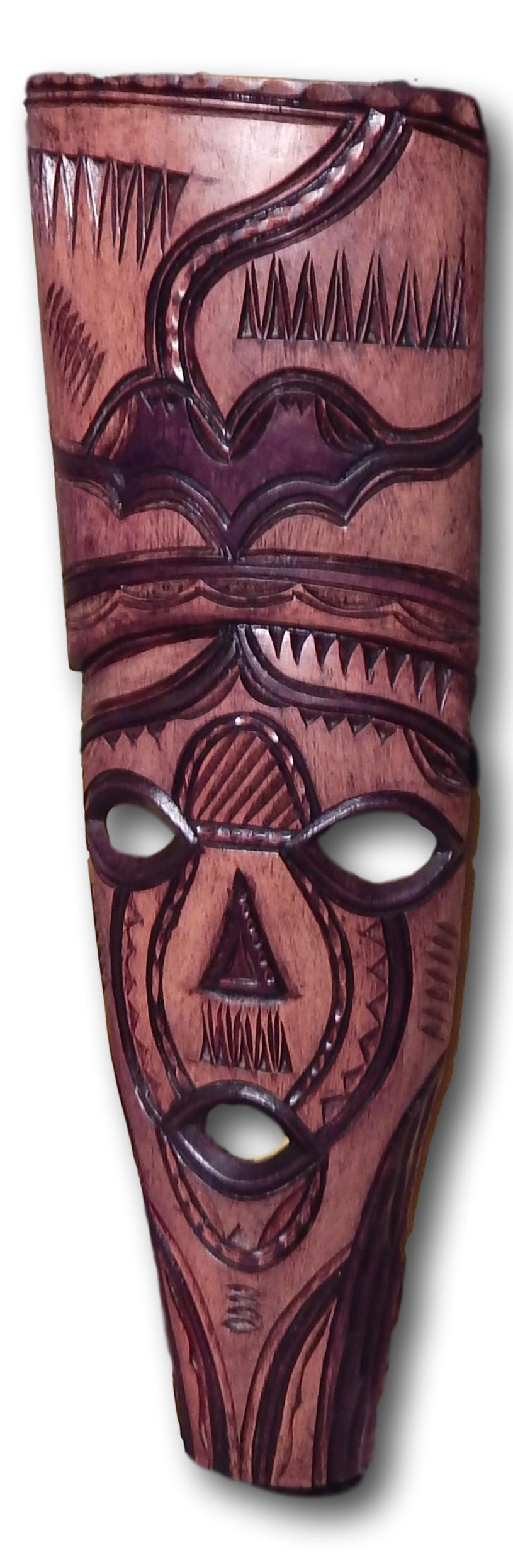Mask decoration from Mukwa wood
