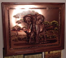 Wall decoration handcrafted on Copper plate