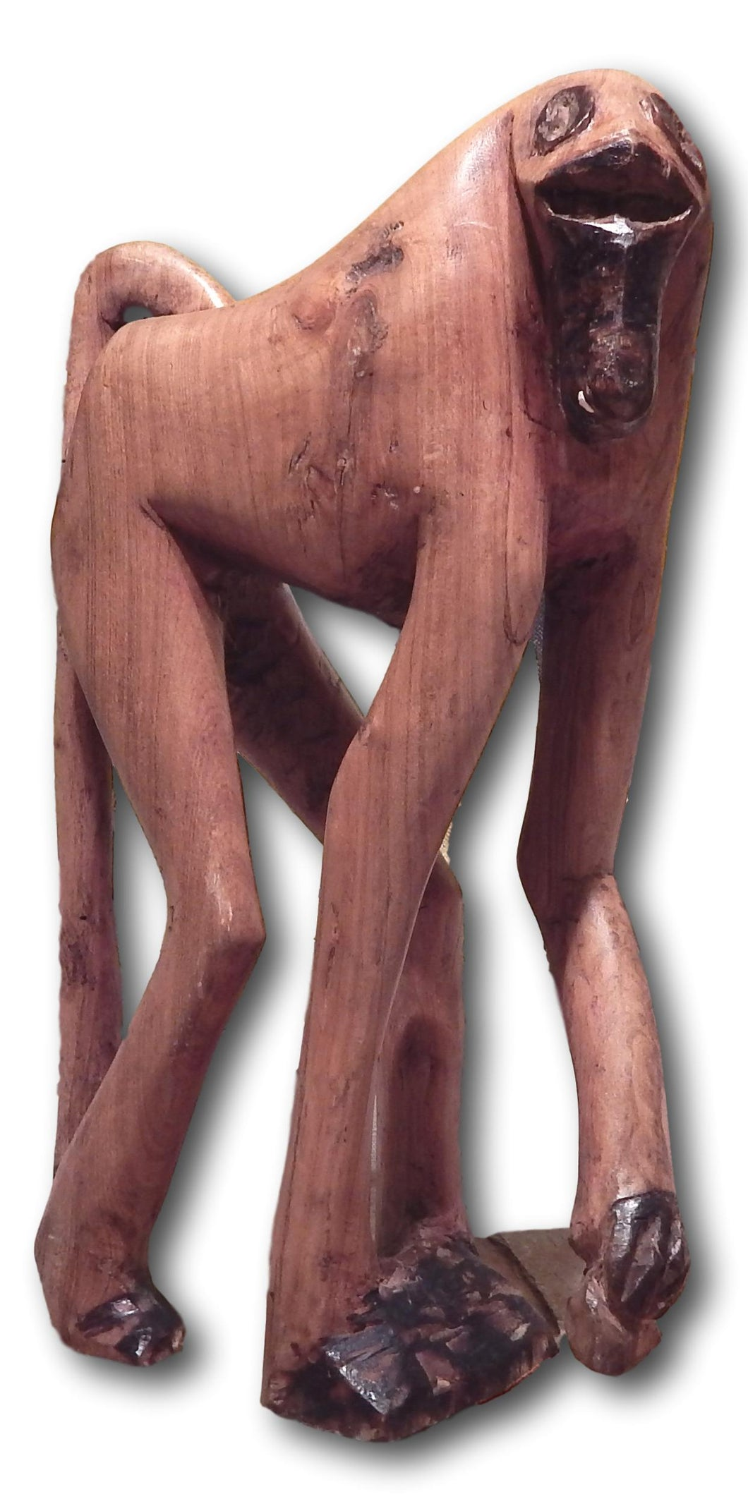 Monkey hand carved from Mukwa wood