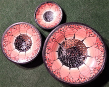 Mosaic bowl set hand made from Glass and resin