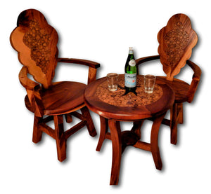 Patio table and chairs furniture set : var Roots Hardwood Furniture