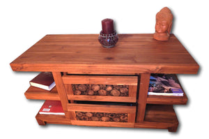 Television media cabinet designer furniture from Teak wood