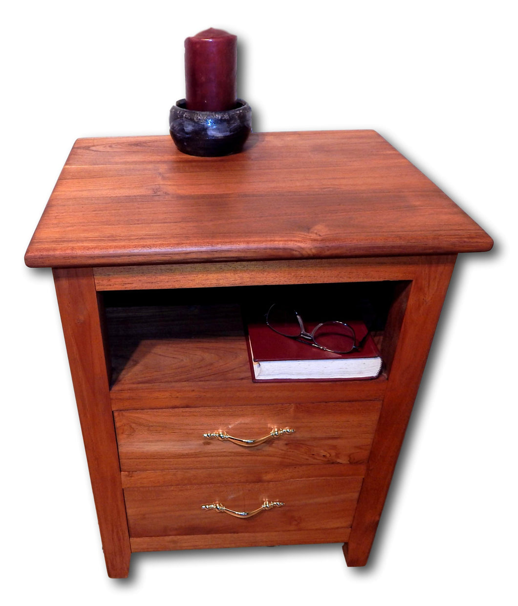 Side tables & nightstands handcrafted from teak wood, salvaged wood, solid wood furniture & reclaimed woods