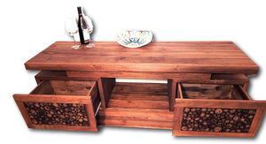 Television cabinet from Teak wood